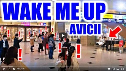 【ストリートピアノ】Aviciiの「Wake Me Up」を本気で弾いた結果...!!