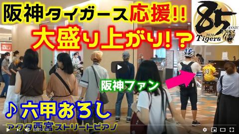 【ストリートピアノ】阪神タイガース応援!!『六甲おろし』