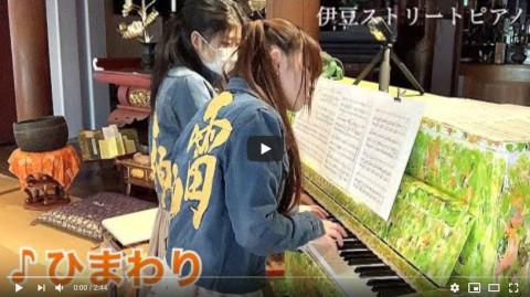 伊豆ストリートピアノで葉加瀬太郎の「ひまわり」弾いてみた